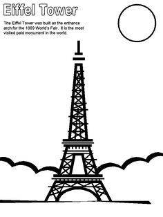 236x314 Printable Eiffel Tower Coloring Pages For Kids Cool2bkids