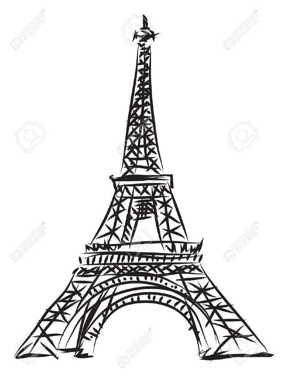 995x1300 Drawn Eiffel Tower Clipart