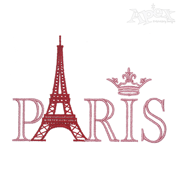 600x600 Eiffel Tower Embroidery Design