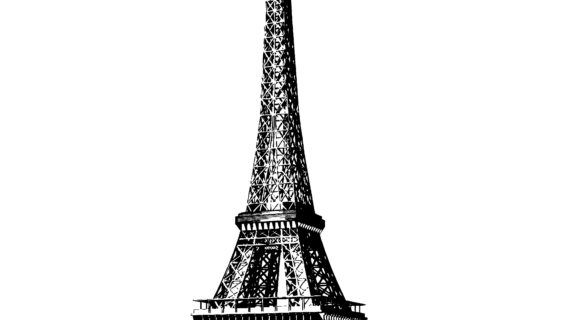 570x320 A Drawing Of The Eiffel Tower Eiffel Tower Realistic Art, Pencil
