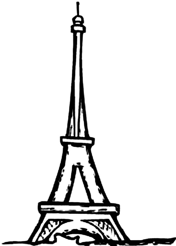 600x837 Eiffel Tower I'M In Love Coloring Page