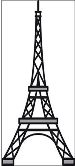 250x550 Eiffel Tower Clipart Night Drawing