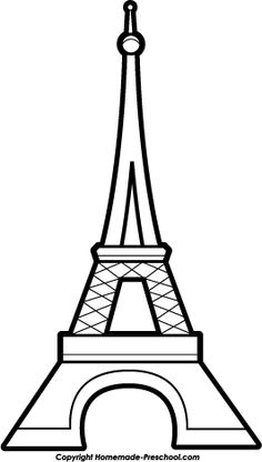 236x416 Eiffel Tower Pattern. Use The Printable Outline For Crafts