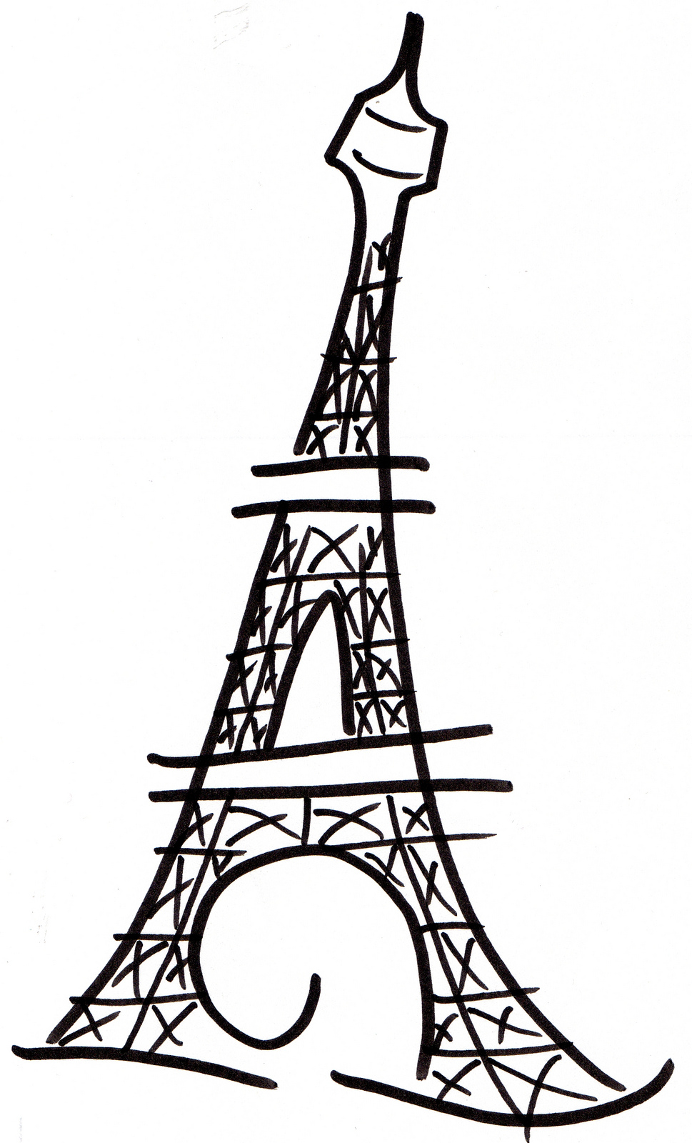 969x1600 Eiffel Tower Art On Paris And Tour Eiffel Clipart