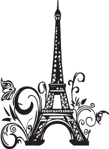 367x500 Cute Wall Decals Eiffel Tower