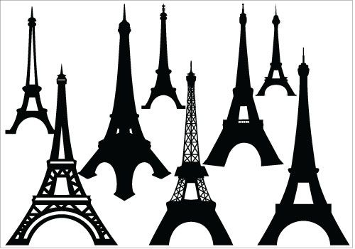 500x350 Eiffel Tower Drawing Simple Clipart Clipart