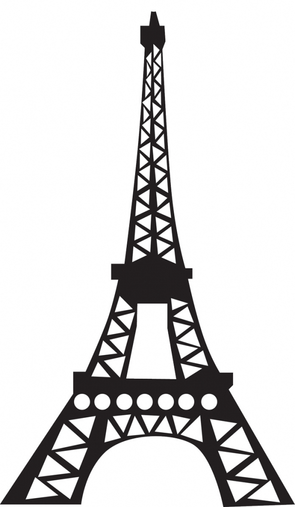 596x1024 Simple Eiffel Tower Drawing