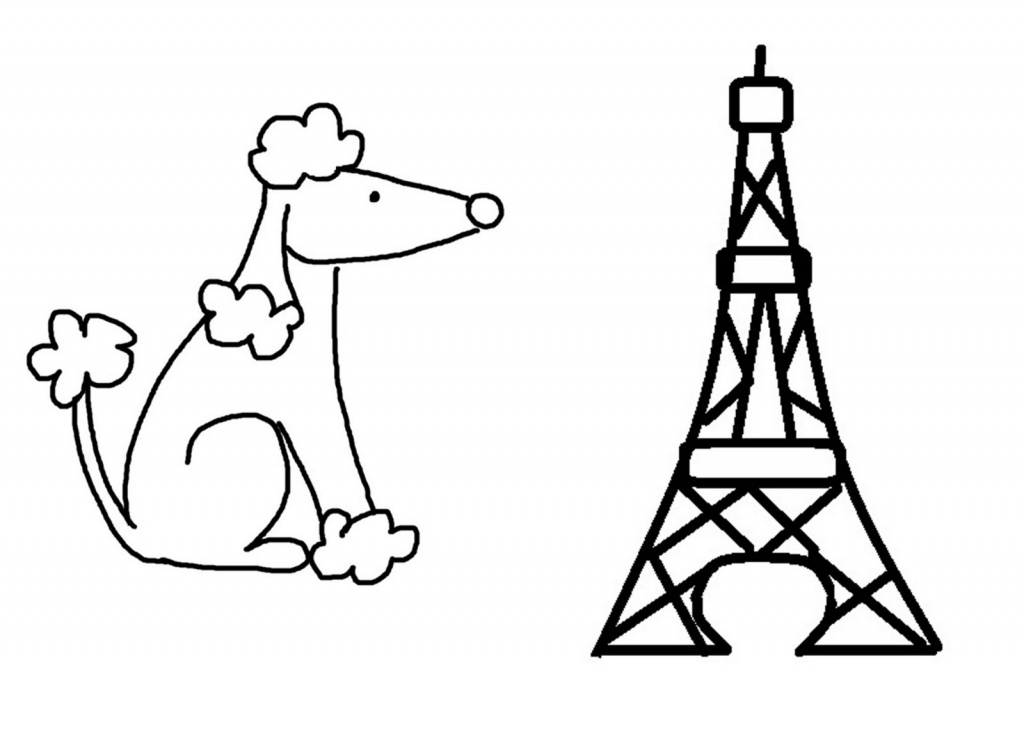1024x741 Simple Eiffel Tower Drawing How To Draw Simple Eiffel Tower