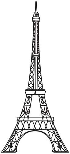 229x500 Vintage Eiffel Tower Design (Uth4504)