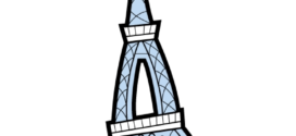 272x125 Eiffel Tower Paris Clip Art Free Vector In Open Office Drawing Svg