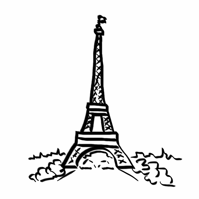 700x700 How To Draw A Good Enough Eiffel Tower In Six Steps