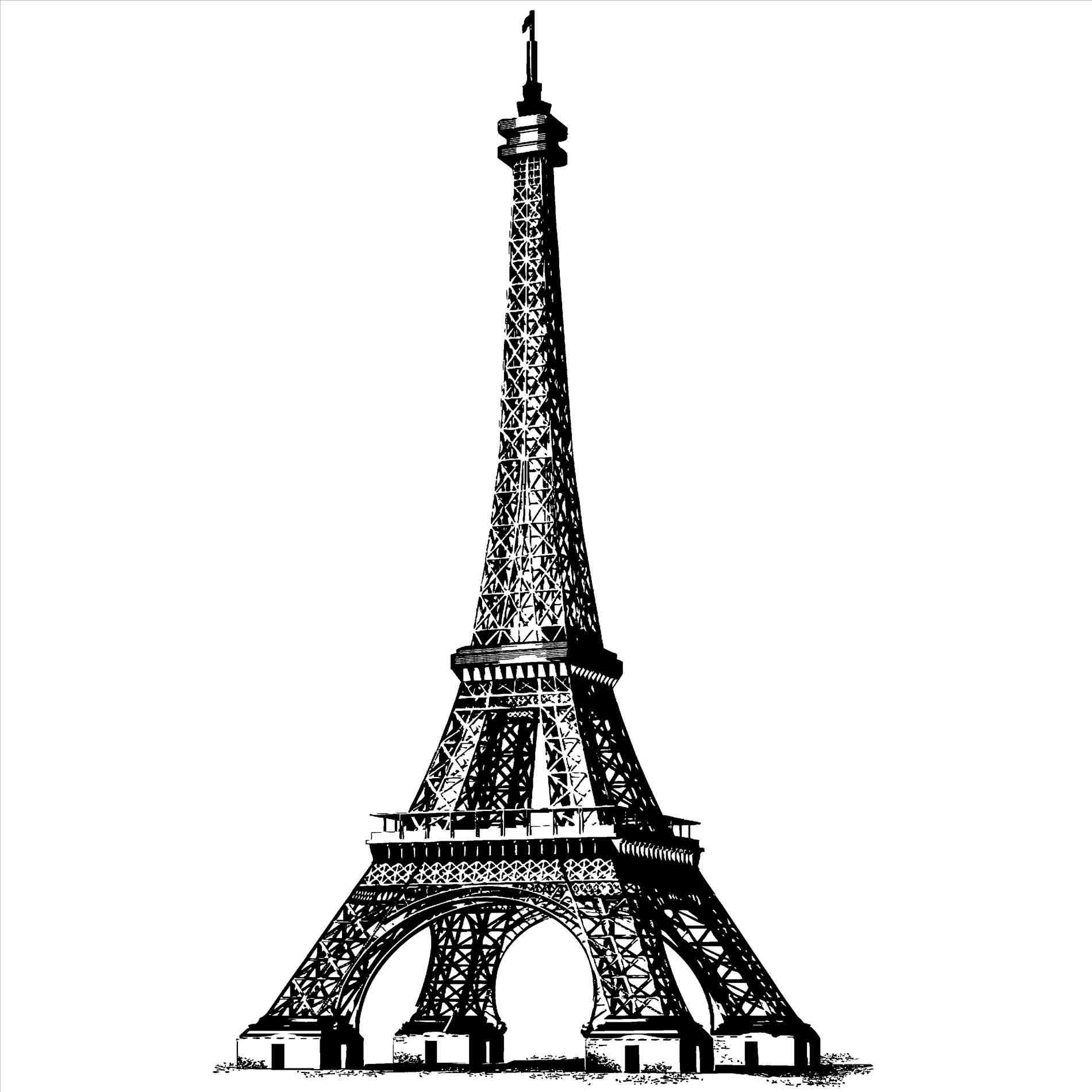 1900x1900 Pencil Drawings Of The Eiffel Tower