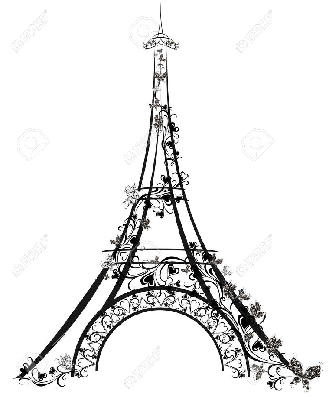 1076x1300 Eiffel Tower, Paris, France Royalty Free Cliparts, Vectors,