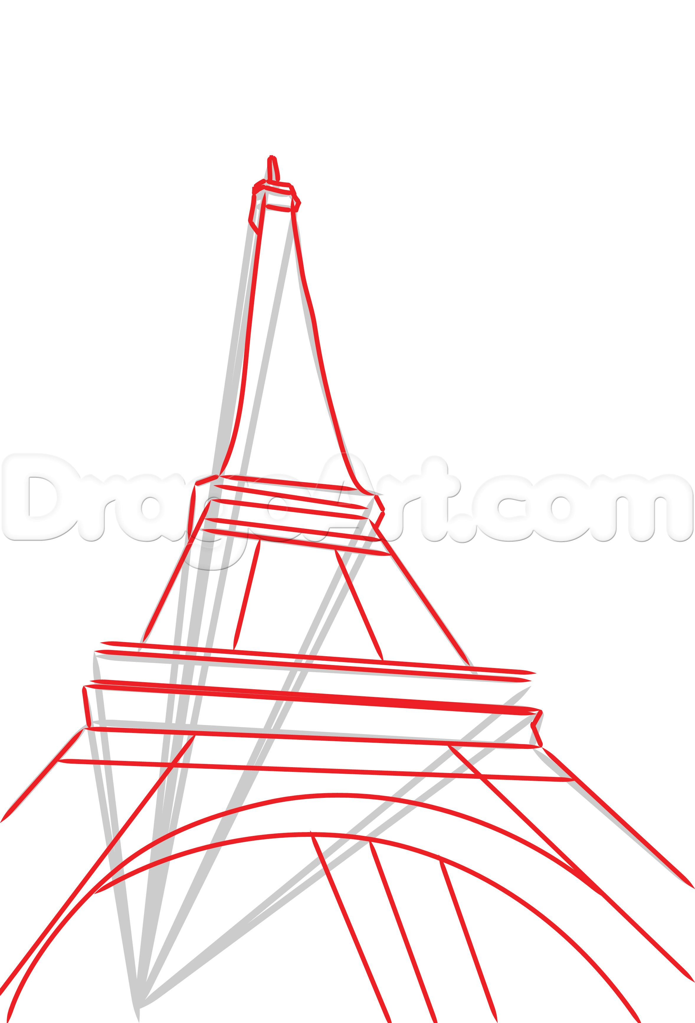 2356x3467 Eiffel Tower Drawing Step By Step How To Draw The Eiffel Tower