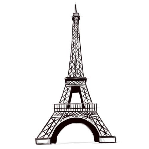500x500 Eiffel Tower Drawing