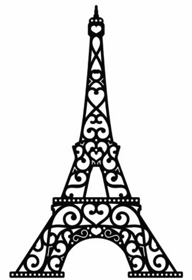 graphic regarding Printable Eiffel Tower named Eiffel Tower Drawing For Children Cost-free obtain most straightforward Eiffel