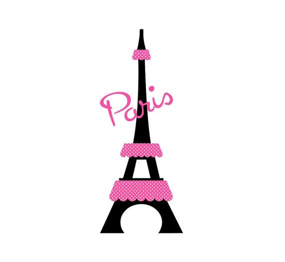 570x523 Paris Eiffel Tower Kids Wall Decal Personalized Wall Art