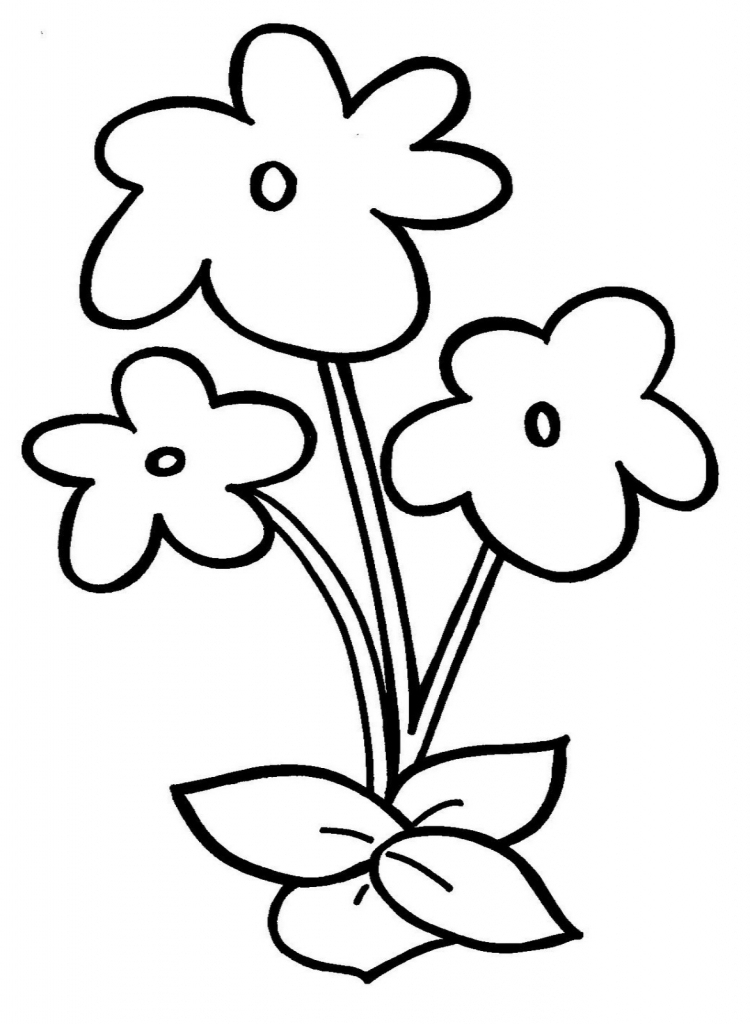 750x1024 Simple Flower Drawing For Kids Drawing Flowers With Pencil Easy