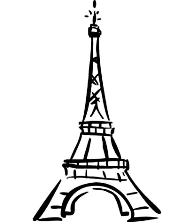 600x746 The Best Eiffel Tower Drawing Easy Ideas Eiffel