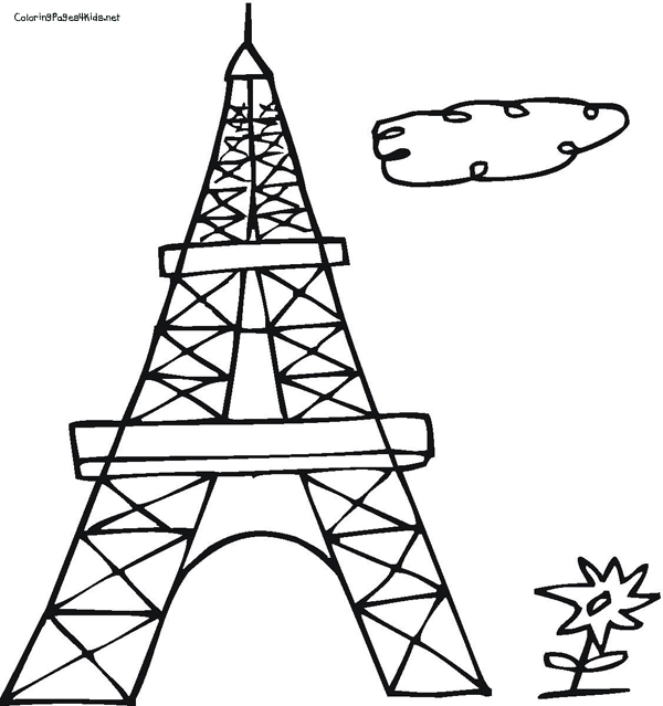 600x639 Download Coloring Pages Eiffel Tower Page Print Adult