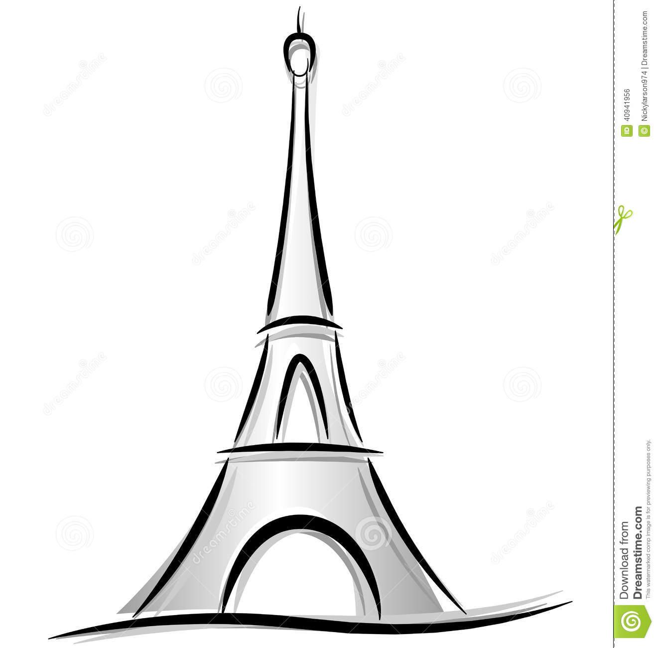 1321x1300 Drawn Eiffel Tower Logo