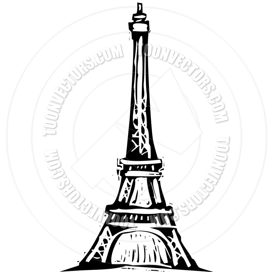 940x940 Eiffel Tower by xochicalco Toon Vectors EPS