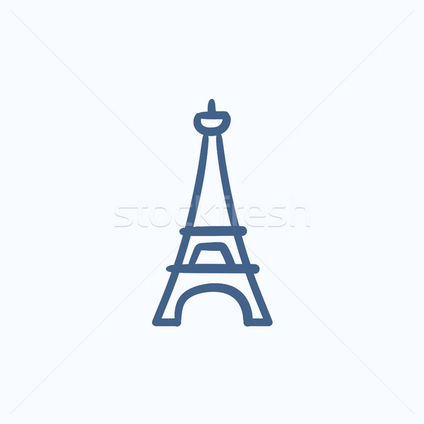 600x600 Eiffel Tower Sketch Icon. Vector Illustration Andrei Krauchuk