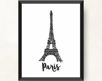 340x270 Eiffel Tower Sketch Etsy