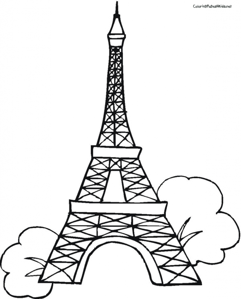 828x1024 Gallery One Eiffel Tower Coloring Pages
