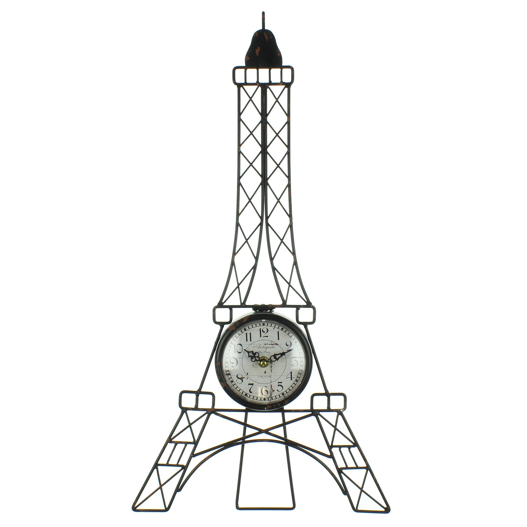 1772x1771 Hometime Wire Eiffel Tower Wall Clock With White Arabic Dial W7634