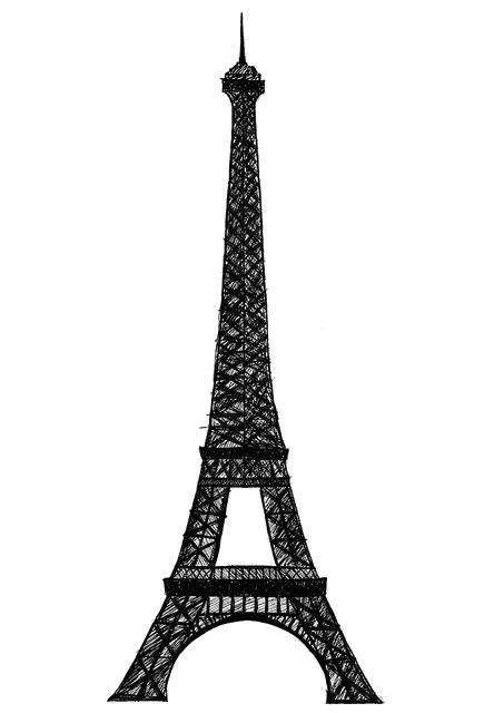 444x640 The Best Eiffel Tower Drawing Easy Ideas Eiffel