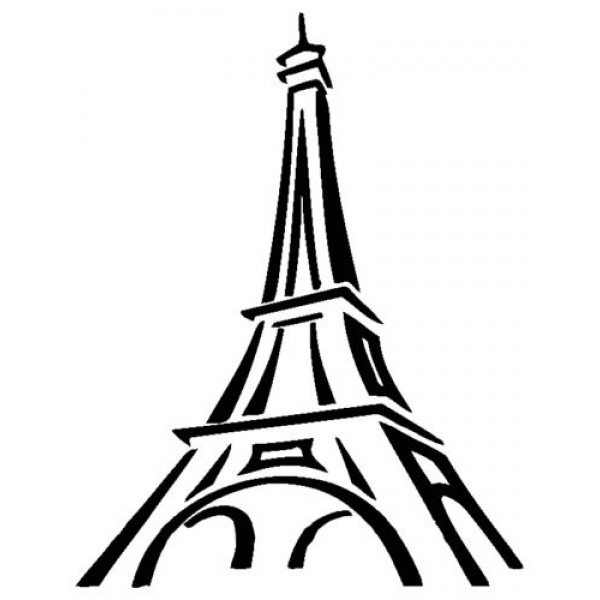 600x600 Tower Paris France Bedroom And Living Room Wall Art Decal Sticker