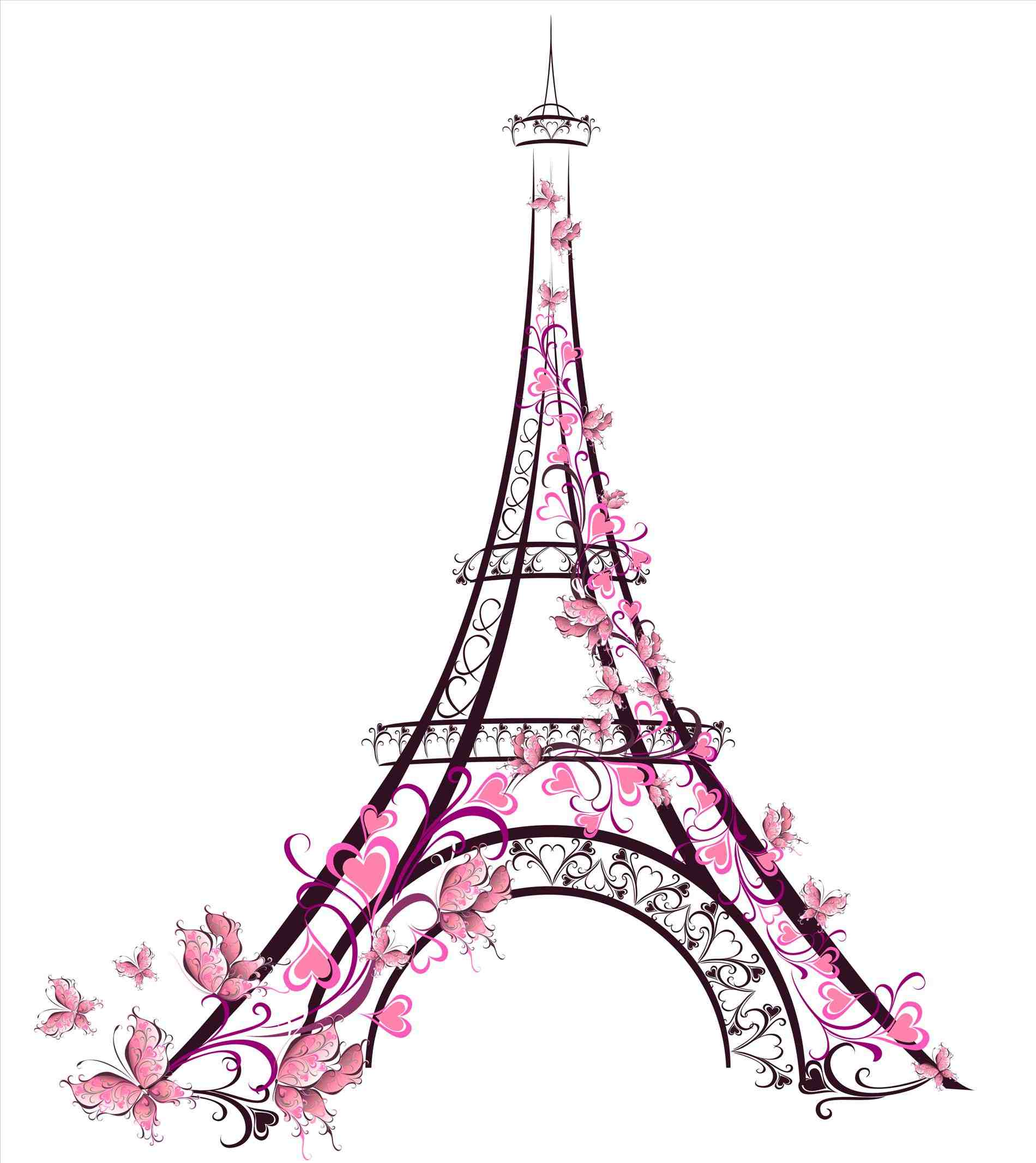 1900x2132 Cute Drawings Of The Eiffel Tower