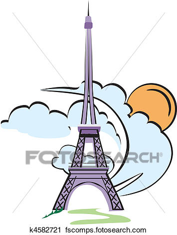 355x470 Clipart Of Eiffel Tower Paris K4582721