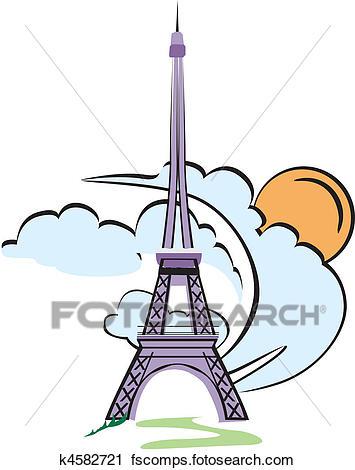 355x470 Clipart of eiffel tower paris k4582721