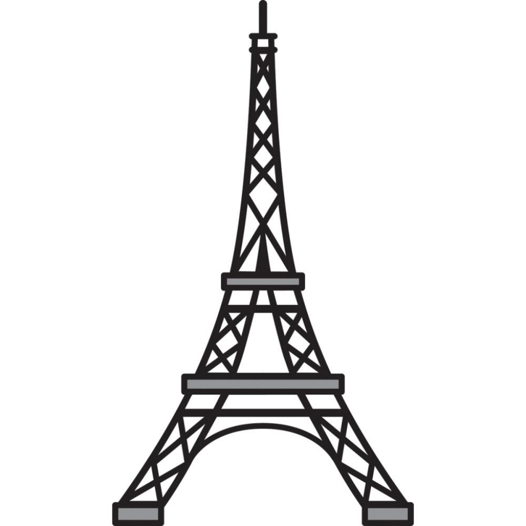 1024x1024 Drawn Eiffel Tower Easy Draw