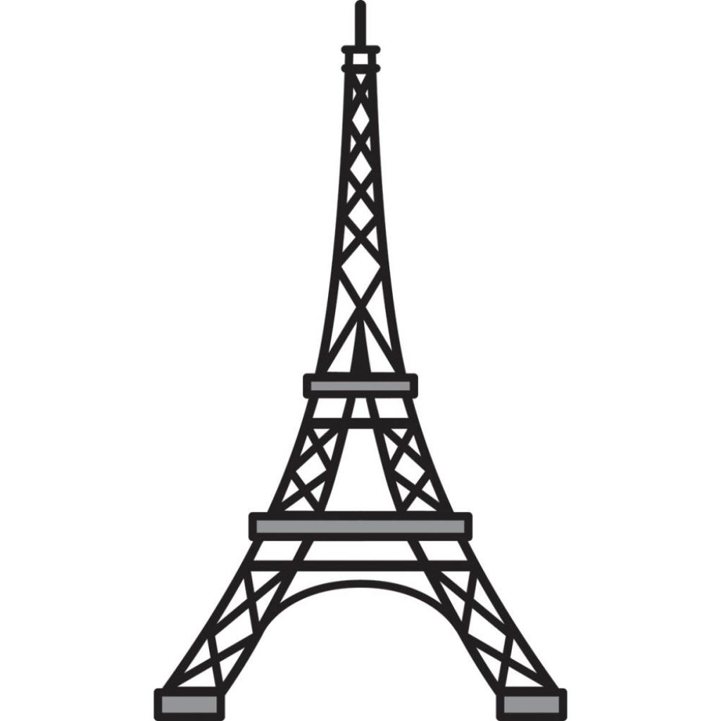 1024x1024 Drawn Eiffel Tower Easy Draw