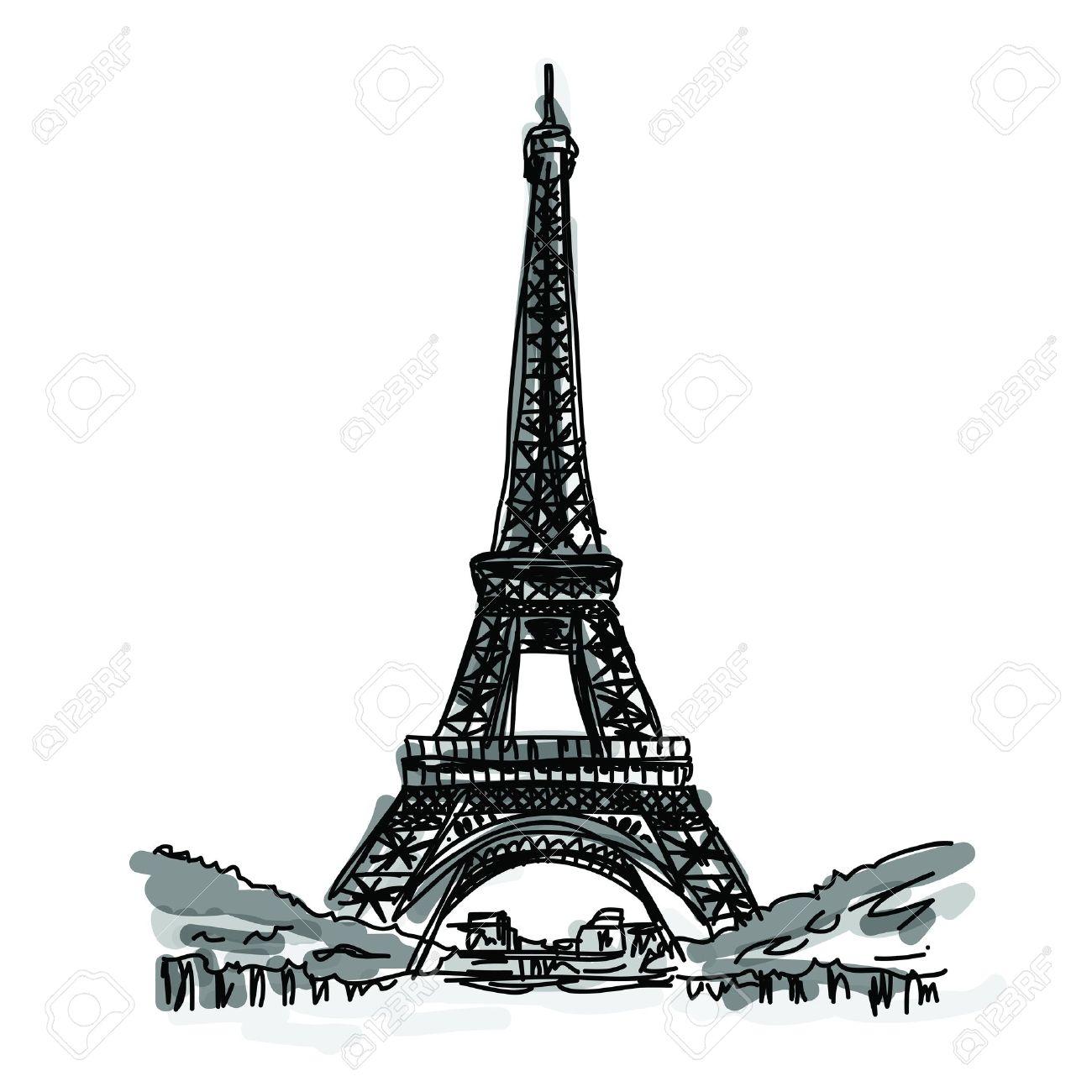1300x1300 Drawn Eiffel Tower Famous Building