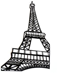 236x301 Drawn Eiffel Tower Silhouette