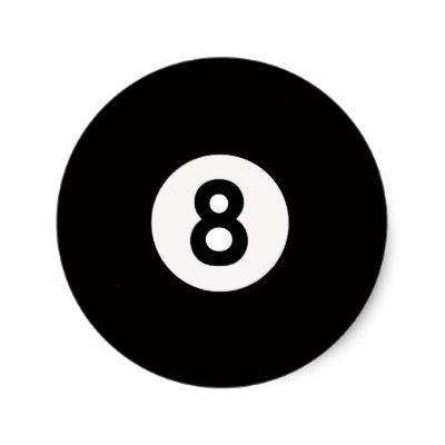 400x400 Billiards Snooker 8 Ball Stickers