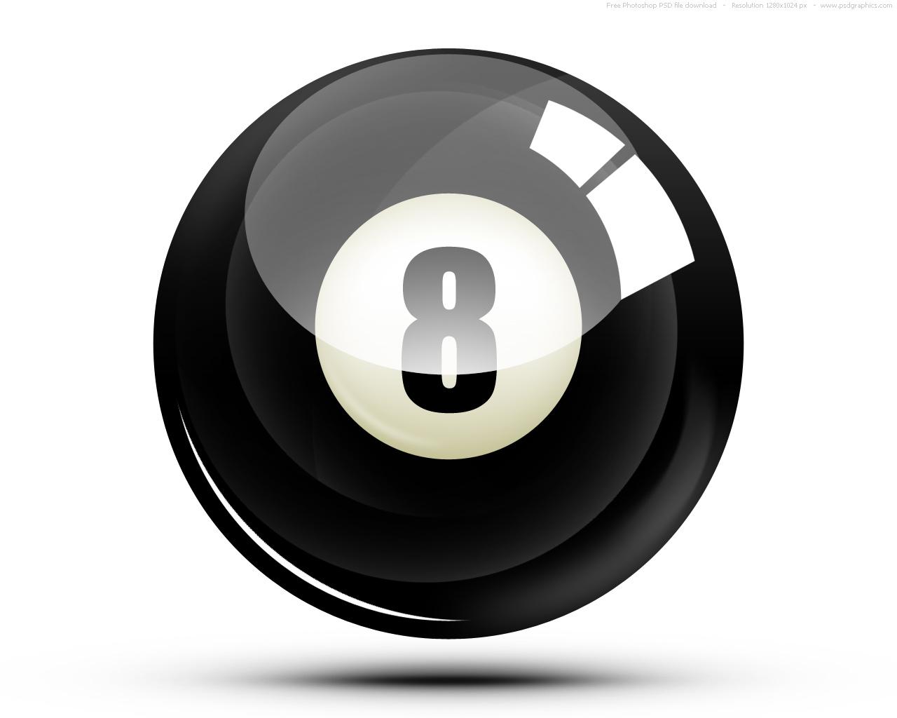 1280x1024 Psd Eight Ball Icon Psdgraphics