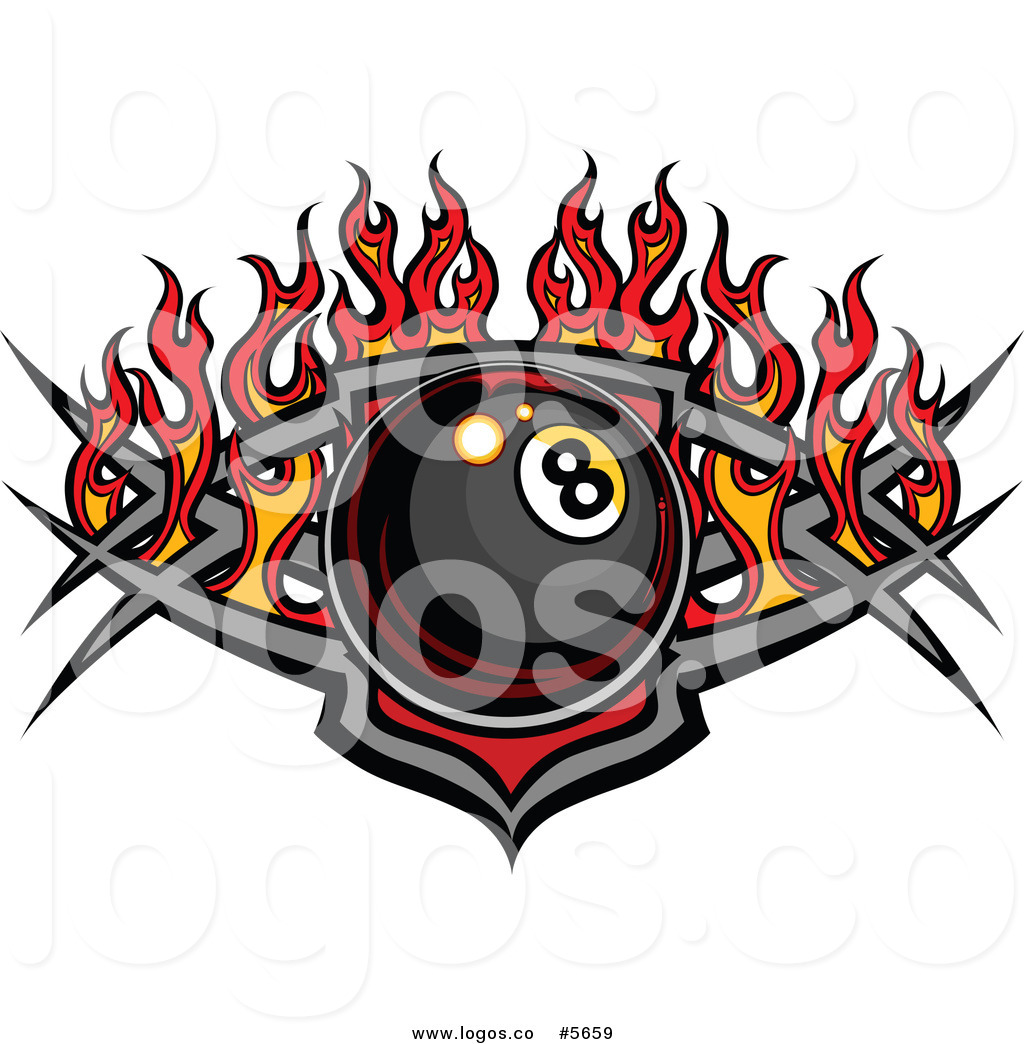 1024x1044 Royalty Free Vector Of Logo Of Billiards Eight Ball Over