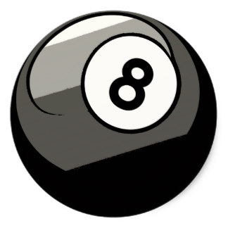 324x324 8 Ball Stickers Zazzle