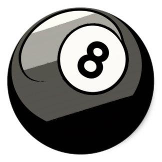 324x324 8 Ball Stickers Zazzle