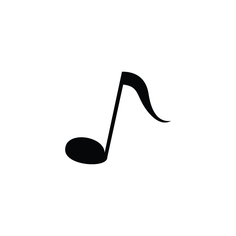 800x800 Eighth Note, Music, Node, Instrument Vector Icon