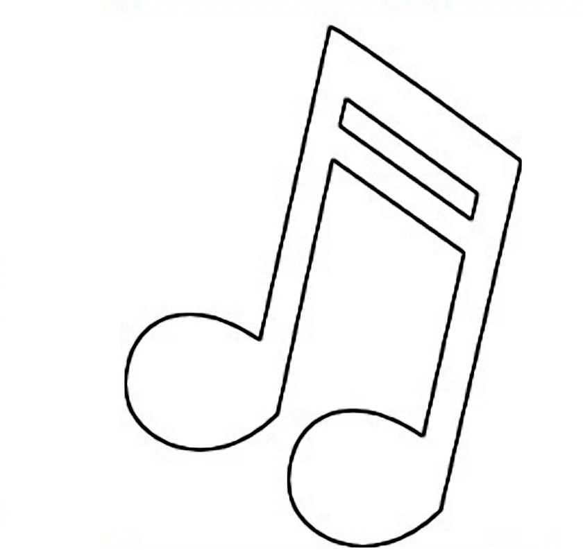 840x793 Music Notes Clipart Outline