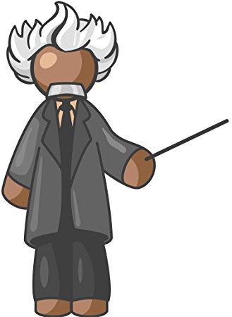 329x450 Cartoon Professor Albert Einstein Grey Black Brown