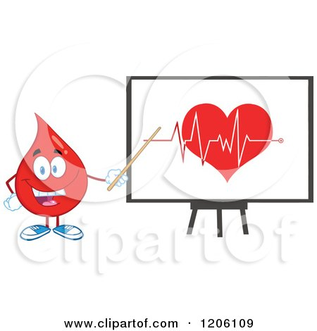 450x470 Cartoon Of A Red Geart Ecg Graph