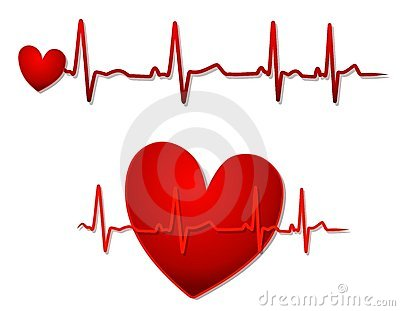400x311 Heart With Ekg Clip Art