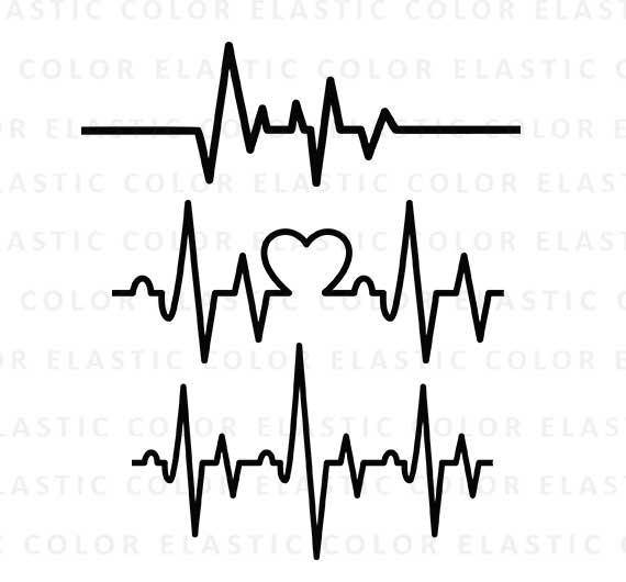 570x530 Heartbeat Svg Ekg Svg Heartbeat Line Clipart Cardiogram
